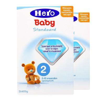 【2盒装】荷兰美素Hero Baby婴幼儿奶粉 2段(6-10个月)800g