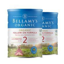 【2罐装】澳洲Bellamys贝拉米有机婴幼儿奶粉 2段900g