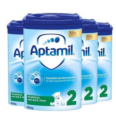 【4罐裝】德國Aptamil愛他美嬰幼兒奶粉 2段(6-10個月)800g