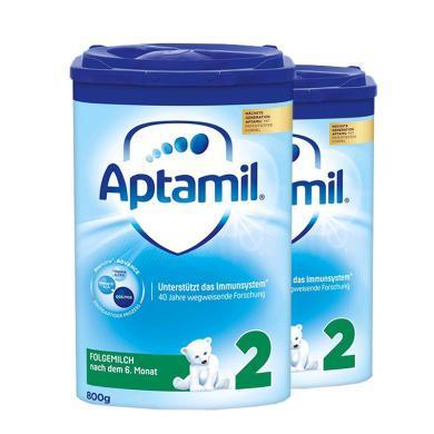 【2罐裝】德國Aptamil愛他美嬰幼兒奶粉 2段(6-10個月)800g