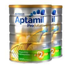 【2罐】澳洲Aptamil爱他美白金版2段奶粉(6-12个月)900g