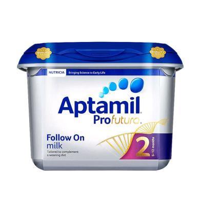【2罐装】英国Aptamil爱他美白金版婴幼儿奶粉 2段(6-12个月)800g