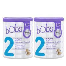 【2盒】【澳洲】bubs贝儿 婴幼儿配方羊奶粉 2段(6-12个月)800g/盒