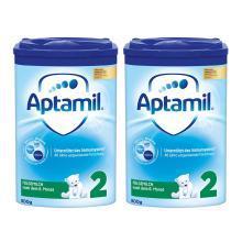 【2罐】德国Aptamil爱他美奶粉2段(6-10个月宝宝)800g/罐