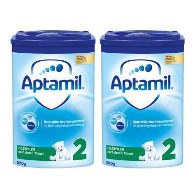 【2罐】德國Aptamil愛他美奶粉2段(6-10個月寶寶)800g/罐