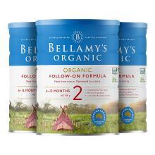 3罐*澳大利亚贝拉米/BELLAMYS 奶粉2段(6-12个月)900g/罐 澳洲直邮