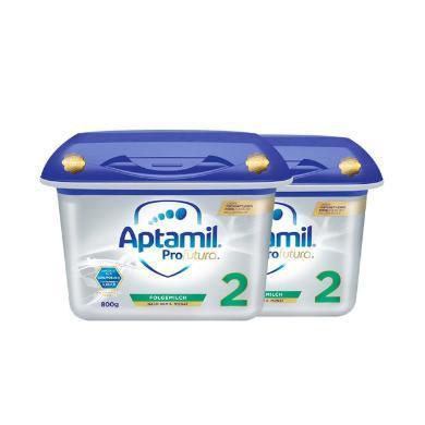 【支持購物卡】2罐*德國 愛他美白金版 Aptamil 奶粉2段 6-10個月 800g/罐