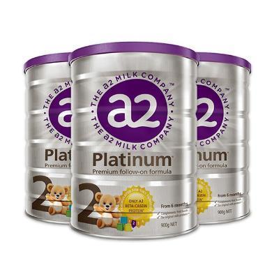 【支持購物卡】3罐*澳洲A2 白金裝奶粉2段(6-12個月)900g/罐