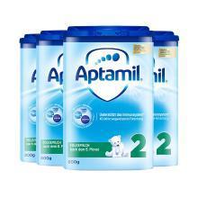 4罐*德国爱他美 Aptamil 2段奶粉(6-10个月)800g/罐 海外直邮
