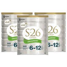 【支持購物卡】3罐*新西蘭惠氏S-26金裝奶粉 2段 900g 澳洲直郵