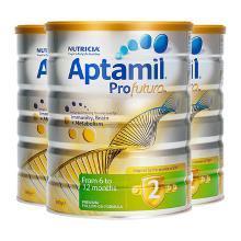【支持购物卡】3罐*澳大利亚 爱他美铂金版 Aptamil 奶粉 2段 6-12个月 900g/罐
