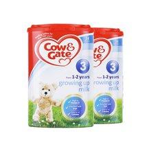【2罐装】英国牛栏Cow&Gate奶粉3段900g*2