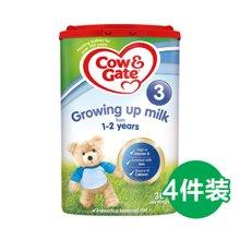 【牛栏】英国空运直邮牛栏3段COW&Gate婴儿奶粉1-2岁新包装800g*4罐装
