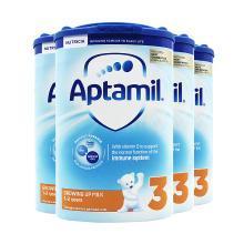 4罐*英國愛他美3段aptamil1-2歲嬰幼兒奶粉 800g【英國空運直郵】