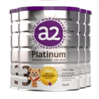 3罐*澳洲A2奶粉三段a2嬰兒奶粉A2白金奶粉3段 適合1-3歲寶寶 900g【澳洲空運直郵】