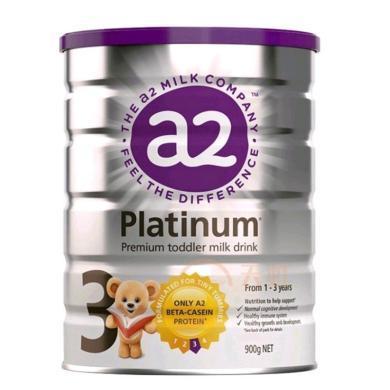 1罐*澳洲A2奶粉三段a2嬰兒奶粉A2白金奶粉3段 適合1-3歲寶寶 900g【海外直郵】