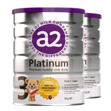 2罐*澳洲A2奶粉三段a2嬰兒奶粉A2白金奶粉3段 適合1-3歲寶寶 900g(新舊包裝隨機)【海外直郵】