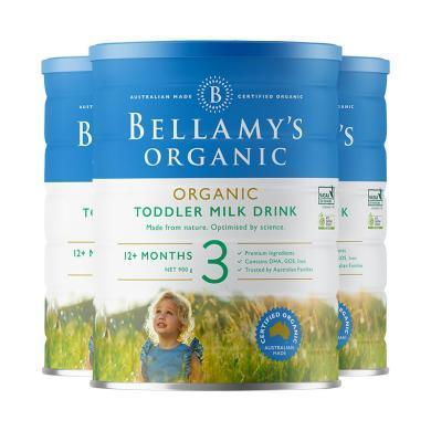 3罐*澳洲嬰兒奶粉貝拉米3段 適合1-3歲 寶寶 900g【澳洲空運直郵】