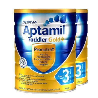 【2罐】澳洲Aptamil爱他美金装3段奶粉(1-2岁)900g/罐 香港直邮