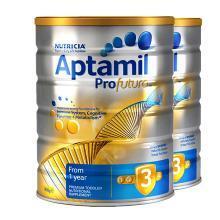 【2罐】澳洲Aptamil爱他美白金版3段奶粉(1-2岁)900g