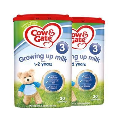 【2罐】英国Cow&Gate牛栏婴幼儿奶粉 3段(1-2岁)800g