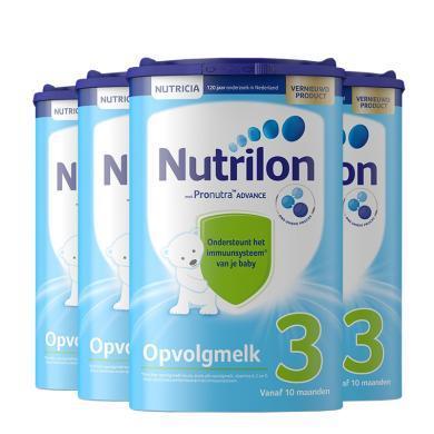 【4罐裝】荷蘭Nutrilon牛欄嬰幼兒奶粉 3段(10個月以上)800g