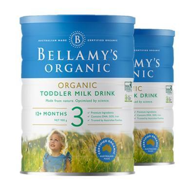 【2罐裝】澳洲Bellamys貝拉米有機嬰幼兒奶粉 3段900g