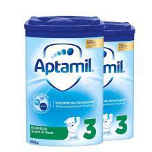 【2罐】德国Aptamil爱他美婴幼儿奶粉 3段(10-12个月)800g/罐 新版