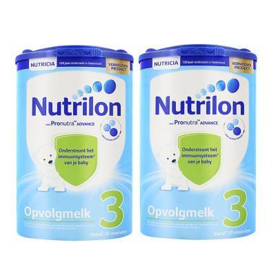 【2罐】荷兰 Nutrilon 牛栏奶粉3段(10-12个月宝宝) 800g/罐