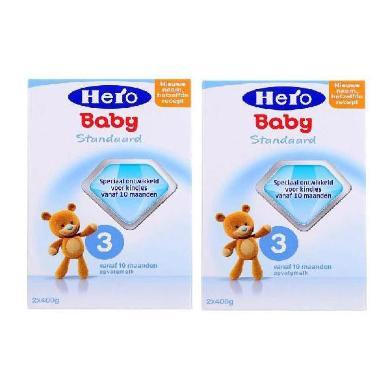 【2盒】荷蘭Hero Baby天賦力奶粉3段(10-12個月寶寶)800g/盒  (有效期:2020.7)