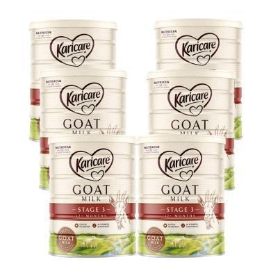 6罐*澳洲可瑞康羊奶Karicare婴儿奶粉3段 适合1-3岁 宝宝 900g  【澳洲空运直邮】
