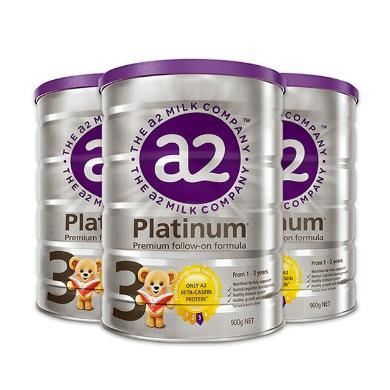 【支持购物卡】3罐*澳洲A2白金装奶粉3段(1岁以上)900g/罐【澳洲空运直邮】
