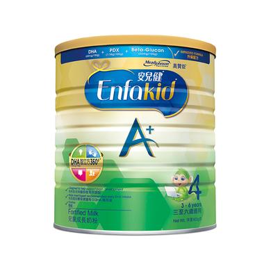 港版美贊臣(MeadJohnson)安兒健A+兒童配方奶粉4段(3-6歲)900g荷蘭原罐進口 保質期至:2021-06-18