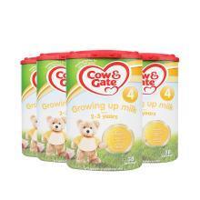 4罐*英國牛欄4段COW&Gate嬰兒奶粉2-3歲 800g【英國空運直郵】