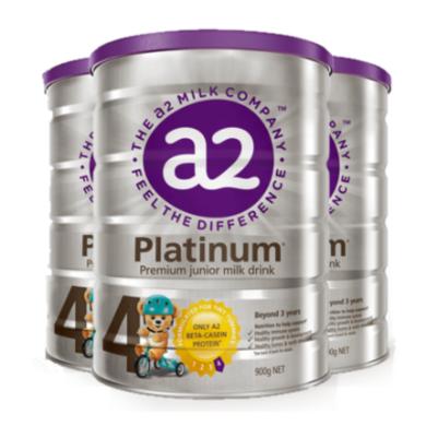 3罐*澳洲A2嬰兒奶粉A2白金奶粉4段 適合3-6歲寶寶 900g【澳洲空運直郵】