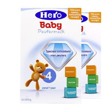 【2盒裝】荷蘭美素Hero Baby嬰幼兒奶粉 4段(1-2歲)700g