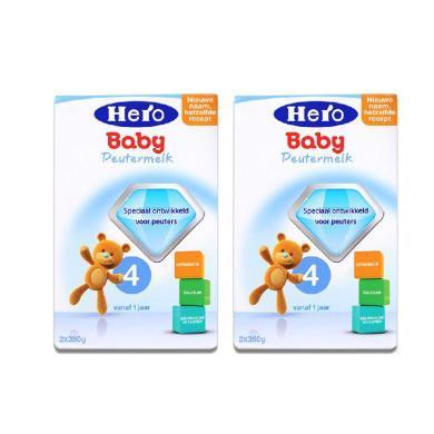 【2盒】荷蘭Hero Baby天賦力奶粉4段(12-24個月寶寶)700g/盒 (效期2020年6月起)