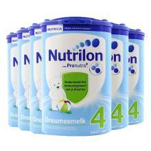 【支持购物卡】【6罐装】 荷兰牛栏奶粉Nutrilon 4段 1岁以上 800g/罐*6罐(荷兰直邮)