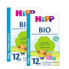 【2盒】德国喜宝Hipp Bio有机奶粉12+(12个月以上宝宝)800g/盒