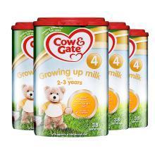 【4罐装】Cow & Gate 英国牛栏4段奶粉(2-3岁)800g