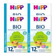 【四盒装】Hipp 德国 喜宝 有机奶粉 12+段 1岁以上 800g