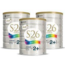 【支持購物卡】3罐*新西蘭惠氏S-26金裝奶粉 4段 900g  澳洲直郵