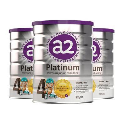 【支持購物卡】3罐*澳洲 A2白金裝奶粉4段(3歲以上)900g/罐 【澳洲空運直郵】