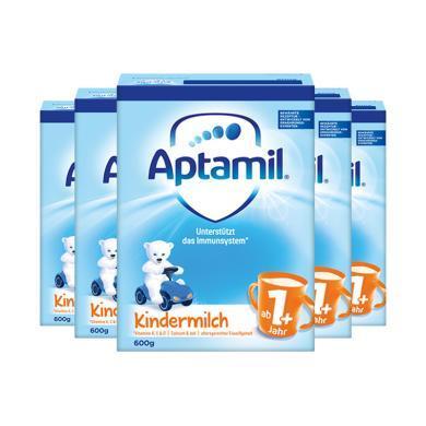 【支持购物卡】5罐*德国 爱他美 Aptamil 1周岁以上奶粉 1+段(4段)600g/罐