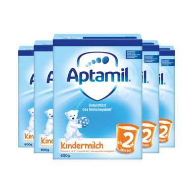 【支持购物卡】5罐*德国 爱他美 Aptamil 奶粉 2+段 600g/罐