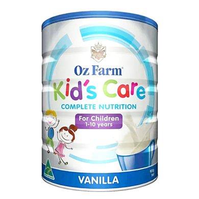 1罐*澳洲OZ Farm儿童健康呵护奶粉(香草味) 科学配方 营养均衡(适合1-10岁宝宝) 900g【海外直邮】
