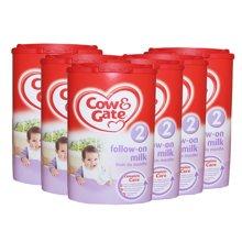 英国直邮 6罐 英国原装牛栏 2段 6-12个月 奶粉900g