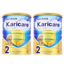 2罐装 新西兰原进口Karicare可瑞康婴幼儿奶粉 金装 加强免疫2段 900g(适合6-12个月宝宝)