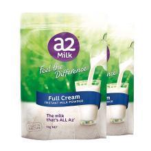 【2包裝】【澳洲】a2 速溶全脂高鈣成人奶粉 營養牛奶1kg/包
