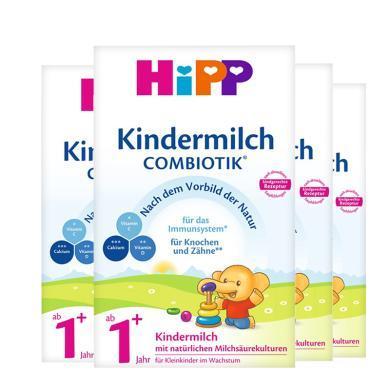 【4盒】德國HiPP喜寶益生菌有機嬰幼兒奶粉 1+段(1歲以上)600g